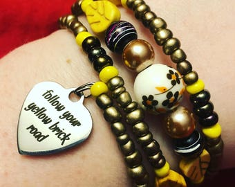 Follow Your Yellow Brick Road Bracelet