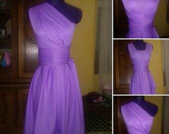 Lilac short convertible dress