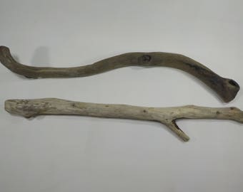 2 Bent Driftwood 21.4''/54cm - Thick Driftwood Branches,DIY Wall Decor , Art Supplies,Decorative Driftwood, Beach Find, Driftwood # 99
