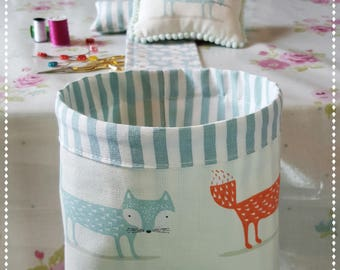 Thread Catcher with Pin Cushion / Shabby Chic / Country Cottage / Pin Cushion / Foxes /Gifts For Her