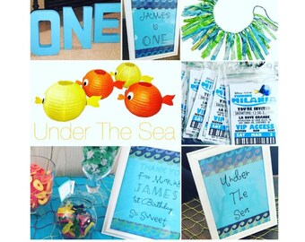 Under The Sea Birthday Party Pack