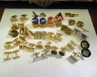 Lot of 19 pairs of Vintage Cufflinks