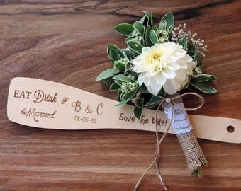 Wedding Favor, Wooden Spatula, Party Favor, Rustic Wedding Favors, Kitchen Utensils, Cooking Utensil, Kitchen Spatula