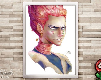 Limited edition poster Hisoka
