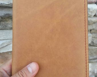 "Leather Moleskine Large Journal Cover, Large Notebook Cover, Leather Journal Cover, Leather Notebook Cover, 5"" x 8.25"", Rustic Tan"