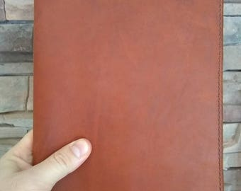 """Leather Moleskine X-Large Journal Cover, X-Large Notebook Cover, Leather Journal Cover, Leather Notebook Cover 7.5"""" x 9.75"""" Carmel"""