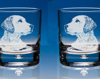 Labrador Dog Whiskey Glasses, Personalised Engraved Gift Set of 2, Gift Labrador Dog Lover, Labrador Gift, Dog Lover Gift, Retriever Gift