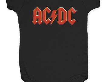 AC/DC Logo Child's Romper (ACDCIN01) Black