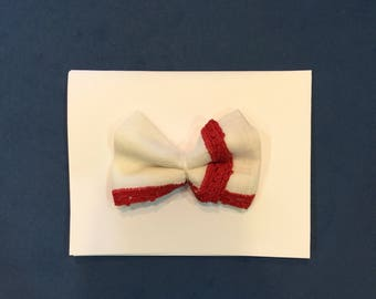 The Amelia | Vintage Hankie Bow | Baby Bow | 4th of July Headband | Baby Headband | Newborn Headband | Nylon Headband | Toddler Bow