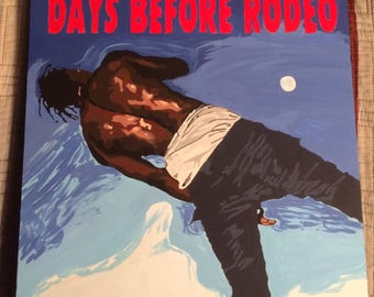 Travis Scott Days Before Rodeo Mixtape Cover Painting