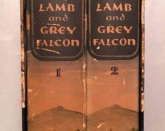 ON SALE Black Lamb and Grey Falcon: A Journey through Yugoslavia - Rebecca West 2 Volumes w/ Slipcase (1941 Hcdj, 1st Edition, 1st Printing)