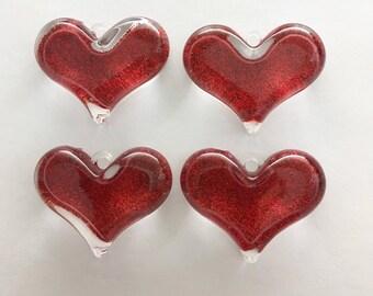 4pc acrylic glitter charm