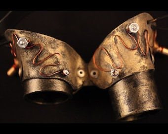 Pair of Golden SteamPunk Goggles