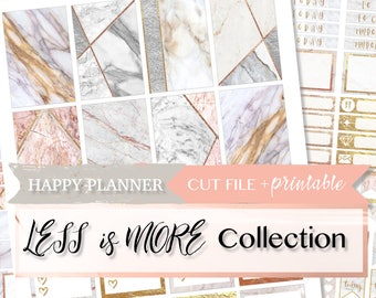 MARBLE PLANNER STICKERS, Marble Happy Planner, hp Printable Planner Stickers, Glitter Sticker Kit, Fall planner stickers, printable weekly k