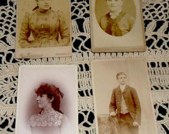 4 Antique Cabinet Photo Collection~Victorian Fashion~Antique German Pictures~Victorian Home Decor~