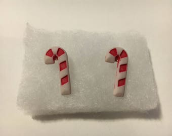 Candy Cane Stud Buttons