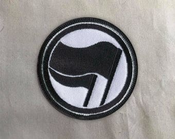 Antifa Patch | Sew on | Embroidery | Patches for Jackets | Anarchist Patch | Iron Front Patch | Anarchist Patch | Tumblr Patch