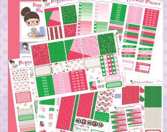 E planner Watermelon Summer Weekly Starter Set or Choose the Sheets you like #03