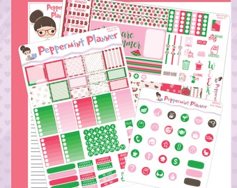 Mini H Summer Watermelon Weekly Set, Page 2, and Icon Set Planner stickers #03