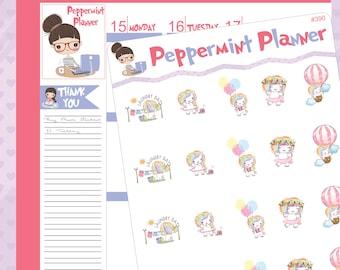 Cute little Unicorn Planner Stickers #390