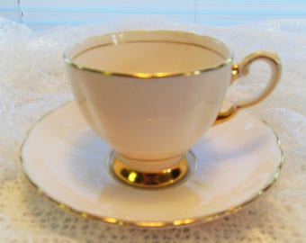 Plant Tuscan Bone China Teacup and Saucer  Solid Pink Teacup English Bone China