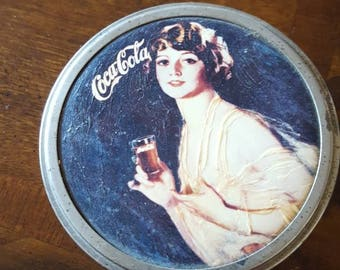 Coca Cola tin canister