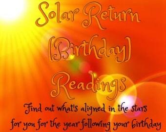 Solar Return (Birthday) Readings