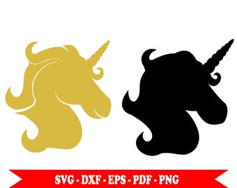 Golden Unicorn Unicorn, silhouette svg svg, dxf, eps, clip art in svg, png, pdf,. For Silhouette, Cricut vinyl, embroidery Space, Cameo