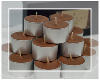 X-Large Soy and Beeswax Tealight Candles (Tealights) - Fresh Coffee