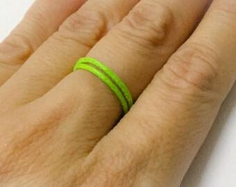 Adjustable String Ring Band. Set of 2. Stacked Ring Band. Men's Ring. Women's Ring.