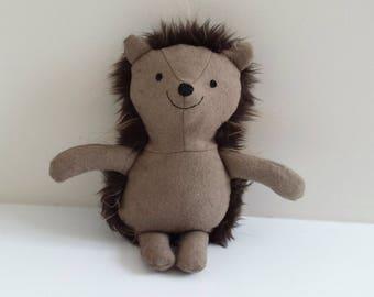 Hedgehog, Woodland Animal, Stuffed Hedgehog Plushie, named Poppy
