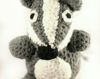 Crochet badger - Stop the Cull - Soft toys - knitted animals - Badger someone else - crocheted toys - gift for vegan - badger gifts