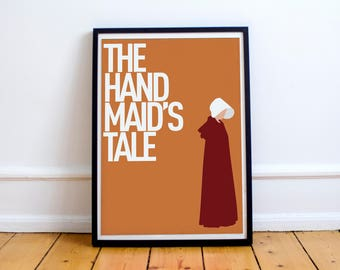 The Handmaid's Tale Inspired Poster Print - Margaret Atwood - Book - Television - Feminism - TV Show - Feminist - Offred - Scifi, Dorm Decor