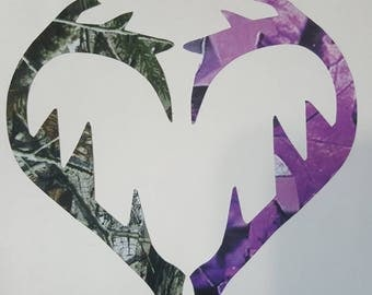 Camo & Purple Camo decal
