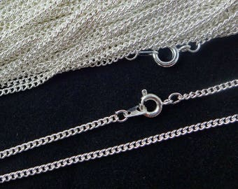Sterling Silver Plated Necklace Curb Chain 18 Inch 4PC 10PC