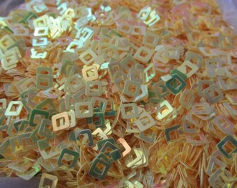 Hollowed out squares Glitter spangles sequin nail craft art