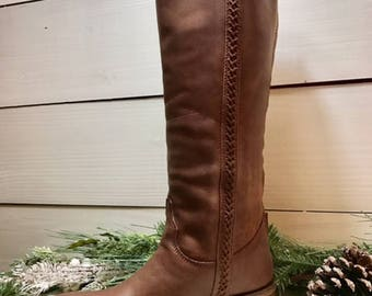Elli Mae Brown Riding Boot by Dusty Rocker-New in Box