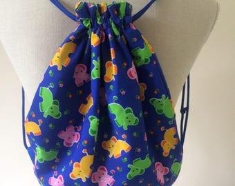 Childrens Elephant Gym Bag // Nursery Bag