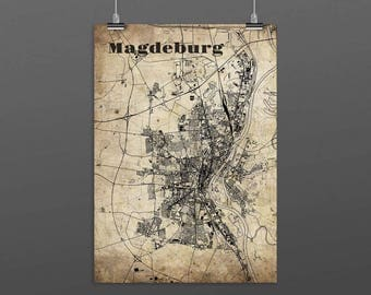 Magdeburg DIN A4 / DIN A3 - print - turquoise