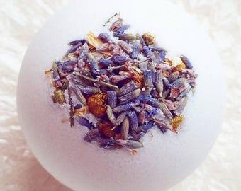 Blue Chamomile & Lavender Luxury Bath Bomb