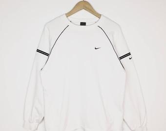 Rare Vintage Nike Sweatshirt / Nike Swoosh / 90s / Nike Large Size