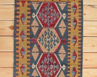 Small Rug Tribal Rug 2.65 x 3.54 ft Turkish Rug Kilim Rug Area Rug Kilim Ottoman Turkish Kilim Nursery Rug Kitchen Rug Boho Rug Tapis Kilim