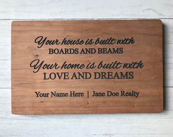 Housewarming gift   Cutting board   Realtor gift   New home   Personalized Gift   Engagement Gift   Personalized Cutting Board   Real Estate