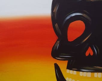 Candy Corn Skull Painting