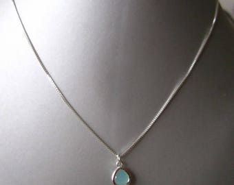 silver chain with crystal pendant
