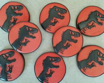 One (1) dozen Jurassic Park cookies