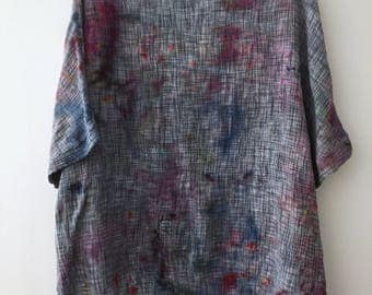 Hand woven and hand dyed one size top