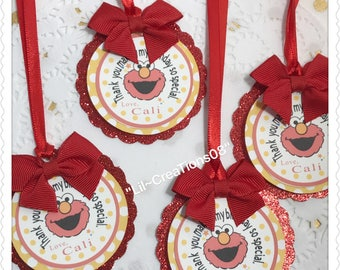 12 Elmo Inspired Tags