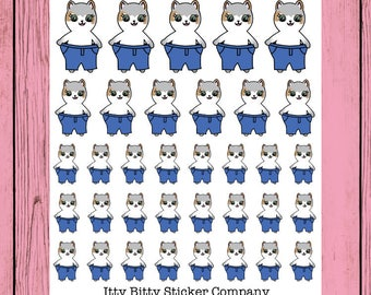 Weight loss Mauly - Hand Drawn IttyBitty Kitty Collection - Planner Stickers