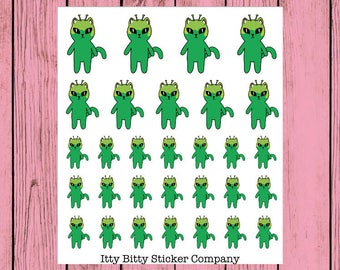 Mauly is Out of this World - Hand Drawn IttyBitty Kitty Collection - Hand Drawn Planner Stickers